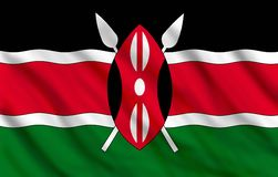 Flag of Kenya royalty free illustration