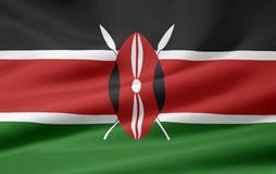 Flag of Kenya Royalty Free Stock Photography