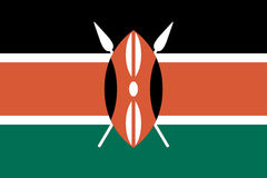 Flag of Kenya Stock Image