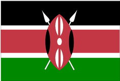 Flag of Kenya Royalty Free Stock Photo
