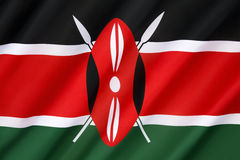 Flag of Kenya. The Kenyan flag is based on that of Kenya African National Union and was adopted on 12th December 1963 as the national flag. The flag features stock images