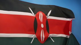 Flag of Kenya Stock Photography