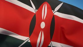 Flag of Kenya. The national flag of Kenya was officially adopted on December 12 1963 stock footage