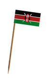 Flag of Kenya. Tooth pick wit a small paper flag of Kenya royalty free stock photos