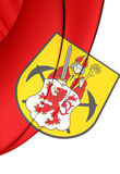 Flag of Kerkrade Limburg, Netherlands. Stock Photo