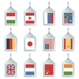 Flag key fobs Royalty Free Stock Images