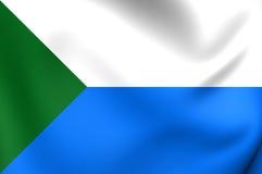 Flag of Khabarovsk Krai, Russia. 3D Flag of Khabarovsk Krai, Russia. Close Up Royalty Free Stock Photography