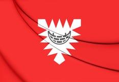 Flag of Kiel, Germany. Royalty Free Stock Photo