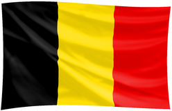Flag of the kingdom of belgium stock photos