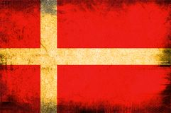 Flag of Kingdom of Denmark Stock Images