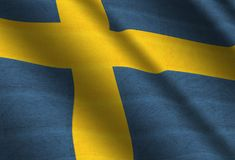 Flag of Sweden. Flag of Kingdom of Sweden Royalty Free Stock Photos
