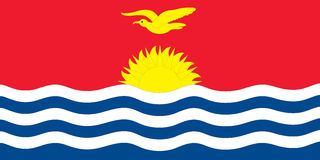 Flag kiribati Stock Image