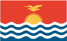 Flag of Kiribati Royalty Free Stock Images