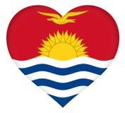 Flag of Kiribati Heart Stock Images