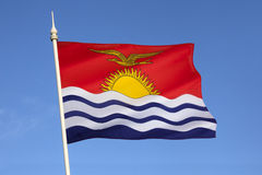 Flag of Kiribati - South Pacific Ocean Stock Photography