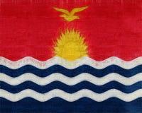 Flag of Kiribati texture Royalty Free Stock Photo