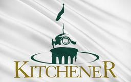 Flag of Kitchener Ontario, Canada. Flag of City of Kitchener is a city in Southern Ontario, Canada vector illustration