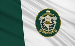 Flag of Kitchener Ontario, Canada. Flag of City of Kitchener is a city in Southern Ontario, Canada stock photos