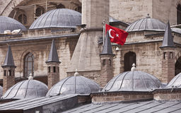 Flag on Konya Building in Turkey Royalty Free Stock Images