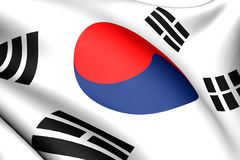 Flag of Korea Stock Image