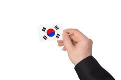 Flag of Korea royalty free stock photos