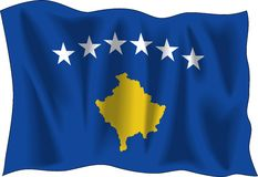 Flag of Kosovo Royalty Free Stock Photo