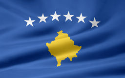 Flag of Kosovo Royalty Free Stock Photography