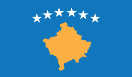 Flag of kosovo  icon illustration Stock Photo
