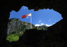 Flag of Kotor Royalty Free Stock Photography