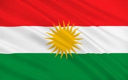 Flag of Kurdistan royalty free illustration