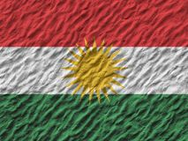 Flag of Kurdistan painted on a wall. Flag of Kurdistan painted on a wall background Royalty Free Stock Photography