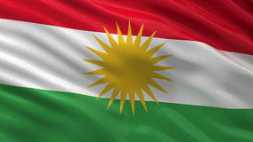 Flag of Kurdistan seamless loop Stock Image