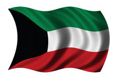 Flag of Kuwait Royalty Free Stock Photo