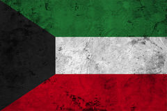 Flag of the Kuwait close up Stock Photography
