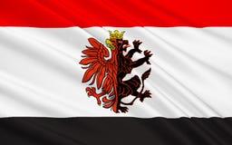 Flag of Kuyavian-Pomeranian Voivodeship in mid-northern Poland. Flag of Kuyavian-Pomeranian Voivodeship or Kujawy-Pomerania Province in mid-northern Poland Royalty Free Stock Photo