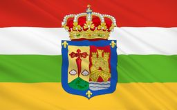 Flag of the La Rioja is an autonomous community and a province i. N Spain, located in the north of the Iberian Peninsula. Its capital is Logrono stock photos