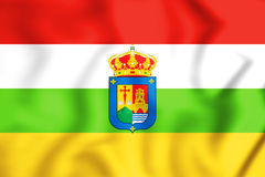 Flag of La Rioja, Spain. 3D Illustration Royalty Free Stock Photos