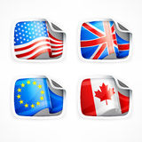 Flag labels Royalty Free Stock Photo