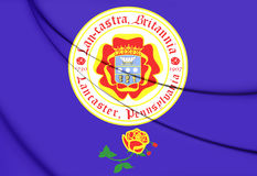 Flag of Lancaster Pennsylvania, USA. Stock Images