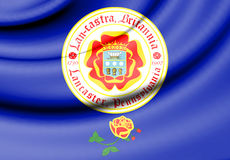 Flag of Lancaster, Pennsylvania. USA. Royalty Free Stock Images
