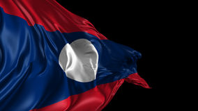 Flag of Laos Royalty Free Stock Photo