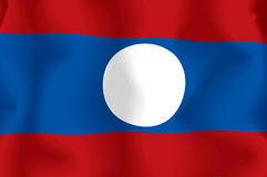 Flag laos Stock Image