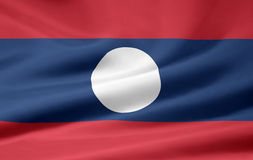Flag of Laos Stock Photos