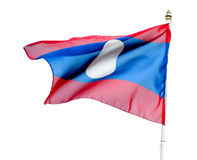 Flag of Laos isolated Royalty Free Stock Image
