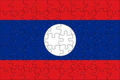 Flag of Laos puzzle Stock Image