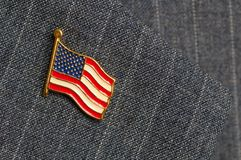 Flag lapel pin Royalty Free Stock Photos