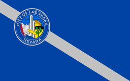 Flag of Las Vegas in Nevada, USA. Flag of Las Vegas officially the City of Las Vegas and often known as simply Vegas, is a city in the United States, the most stock photography