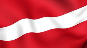 Flag of Latvia Stock Photos