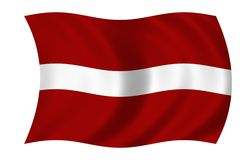 Flag of Latvia royalty free stock photos