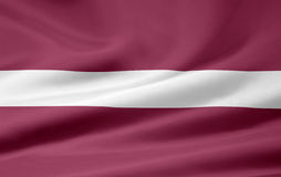 Flag of Latvia Stock Photography